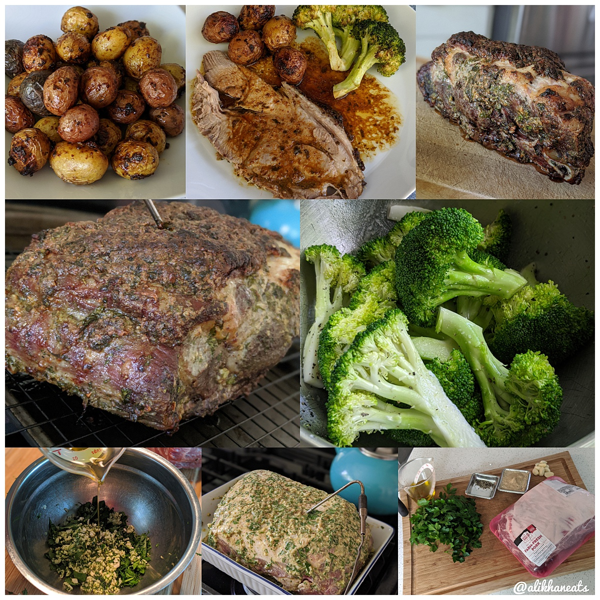 slow roasted pork shoulder montage