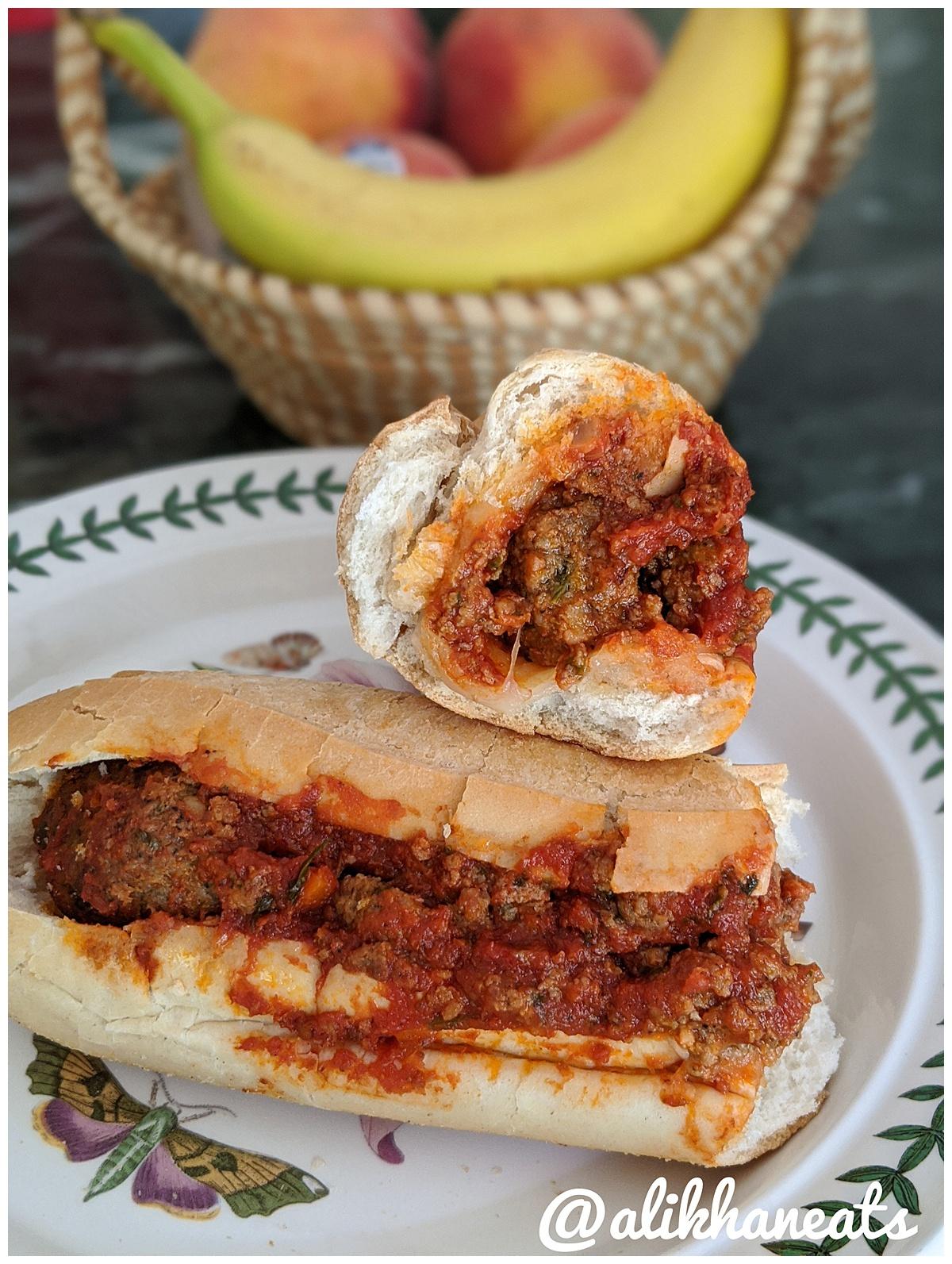 Antonella's Italian Kitchen Meatball hoagie 3