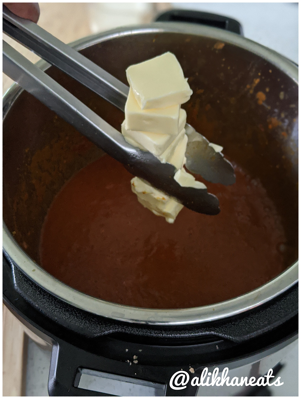 Butter Chicken recipe adding the butter