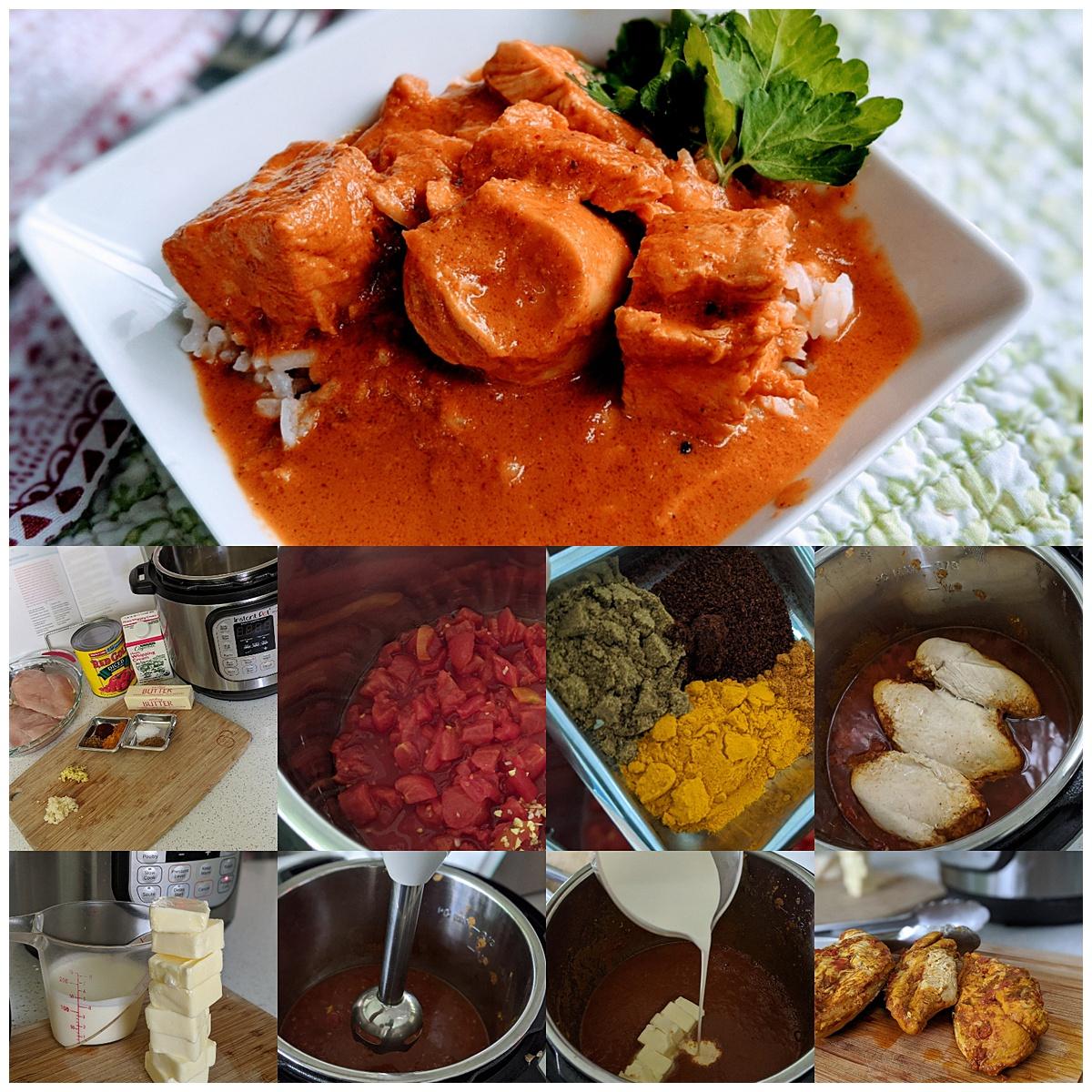 Butter Chicken recipe montage