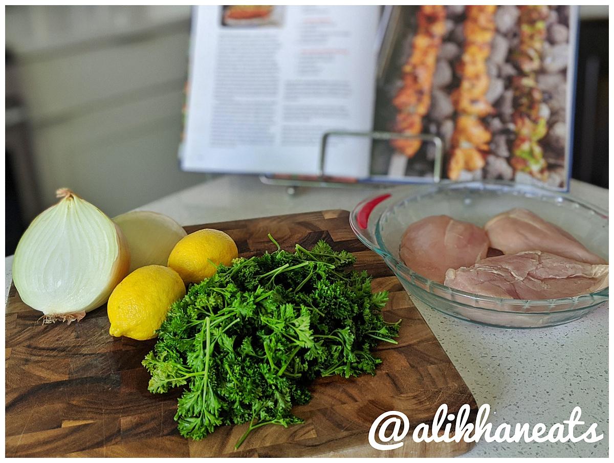 Eid Holiday Dinner kabob ingredients