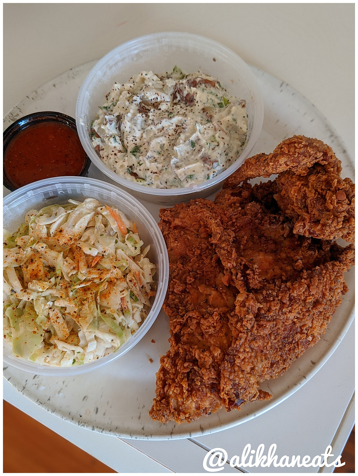 Hot Chick Fried Chicken plate 2
