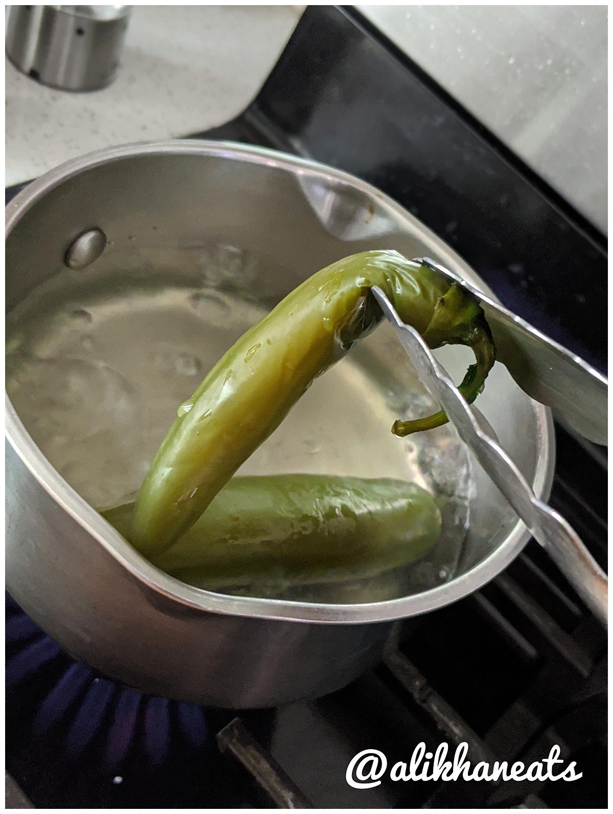 Jalapeño serrano salsa fully boiled