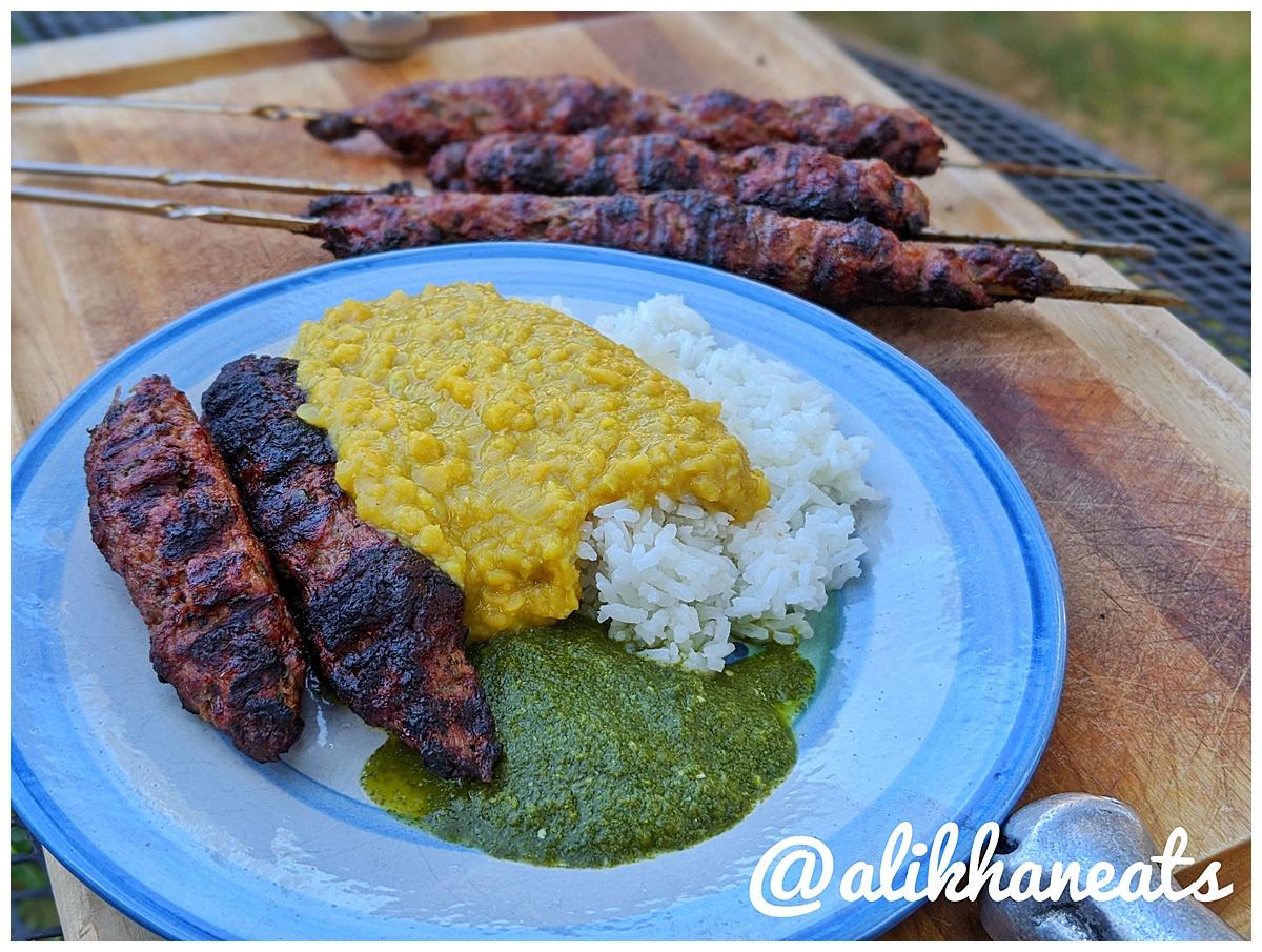 seekh kabob recipe full plate