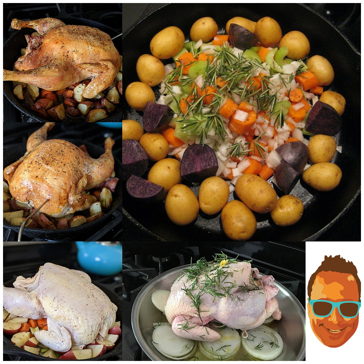 Simple Roast Chicken montage