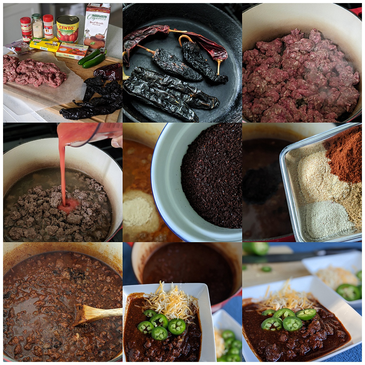Texas Chili recipe montage