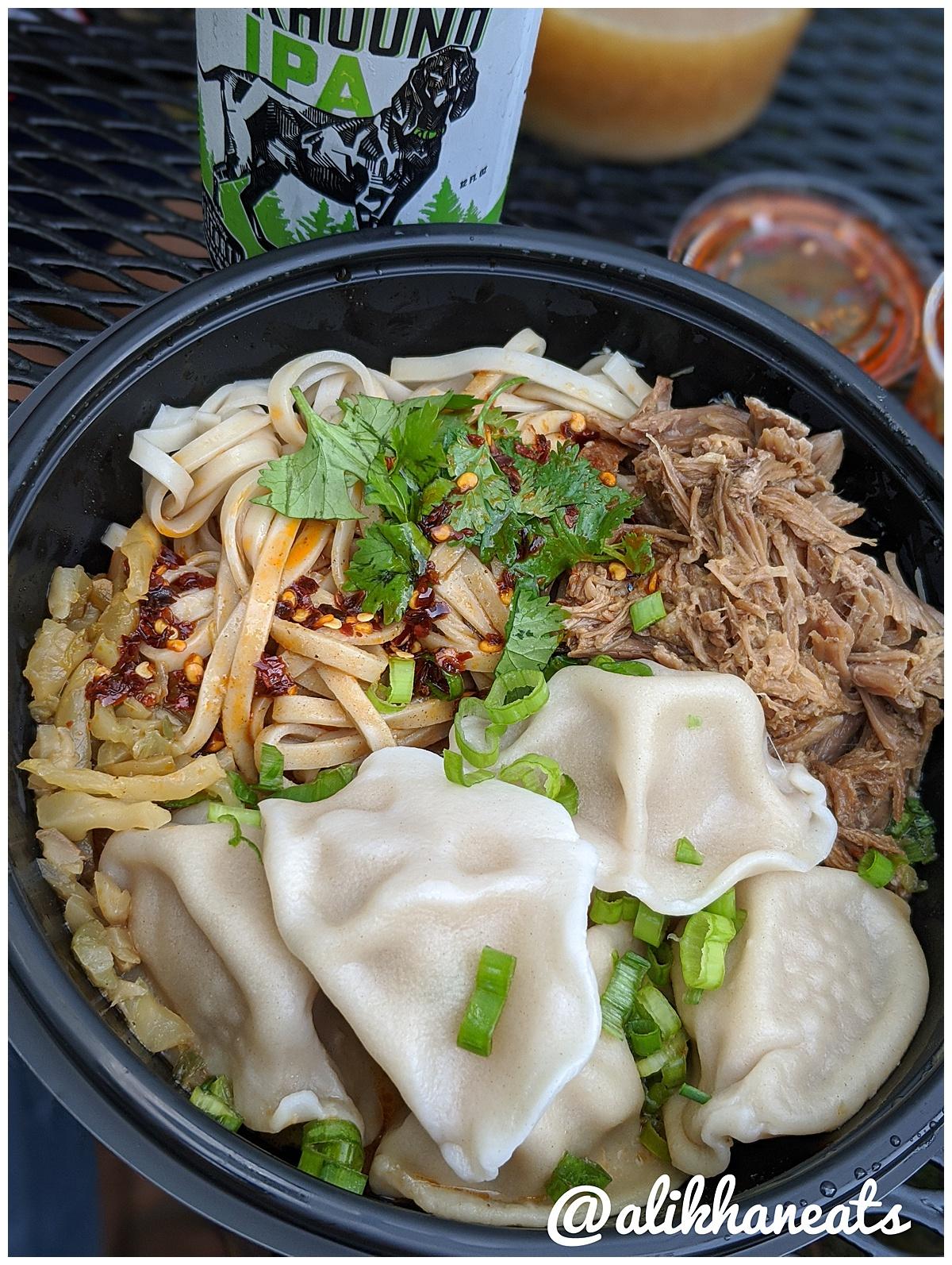 Three Fold Noodle and Dumpling Co dumplings