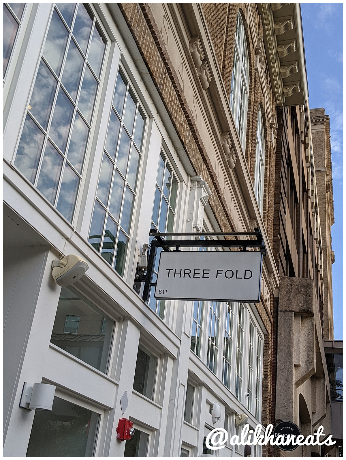 Three Fold Noodle and Dumpling Co sign