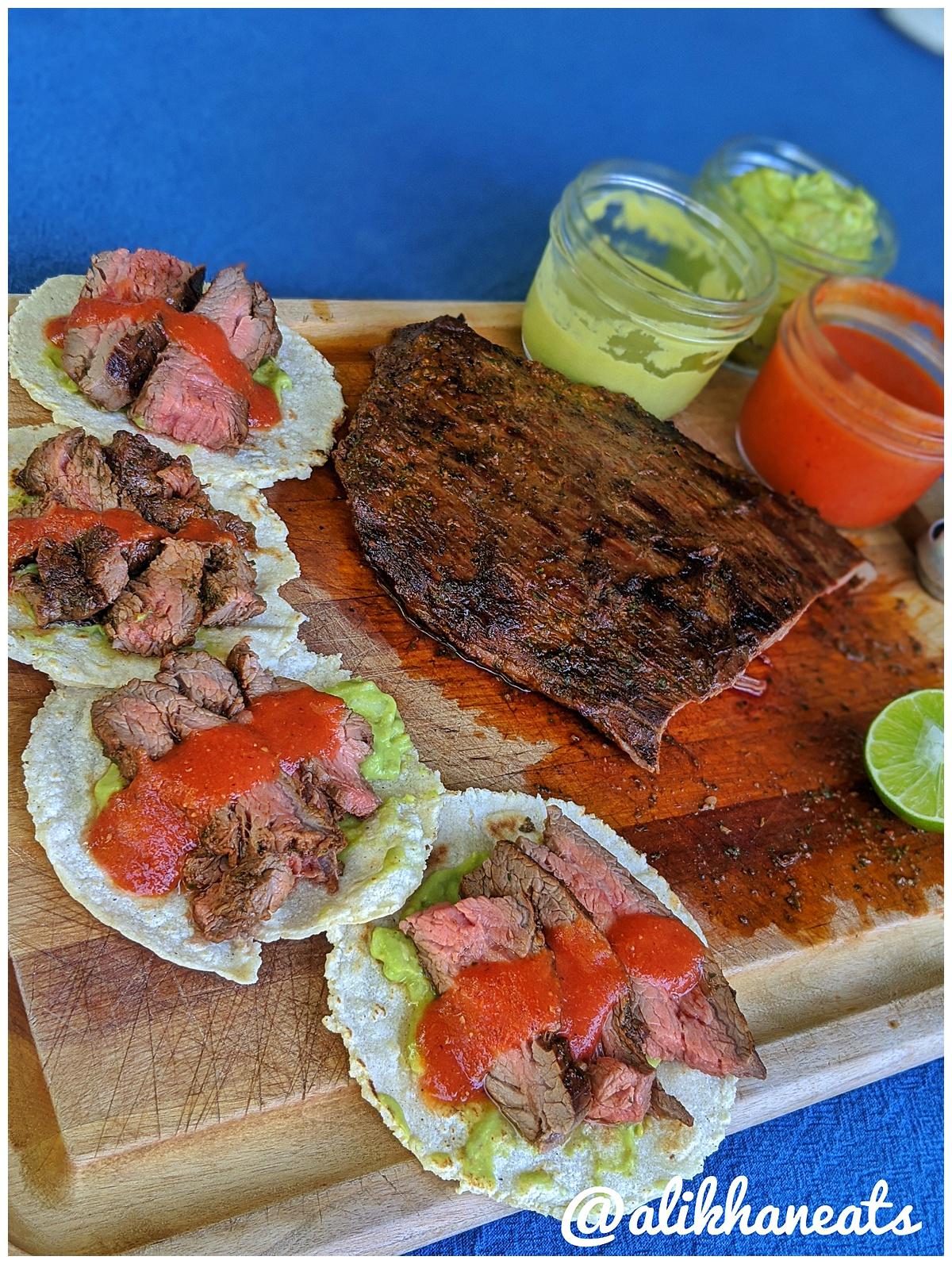 Ultimate Steak Taco recipe red salsa
