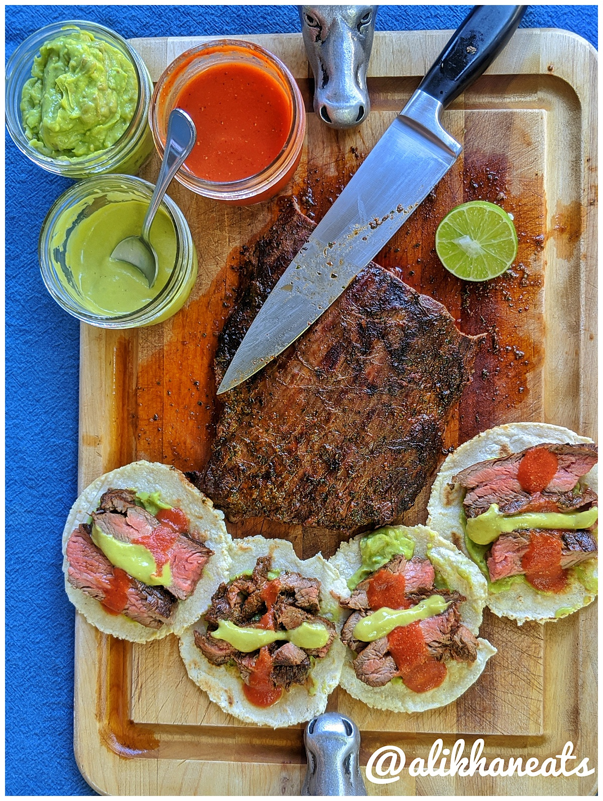 Ultimate Steak Taco recipe full spread