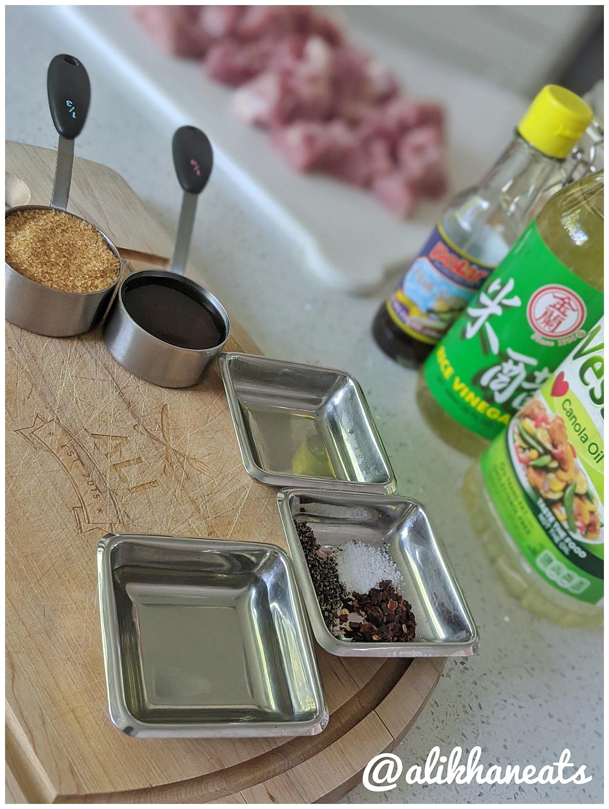 Vietnamese Pork Kabob recipe ingredients 2