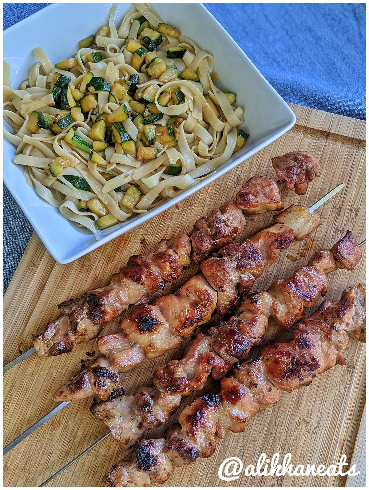 Vietnamese Pork Kabob recipe kabob and noodles 1