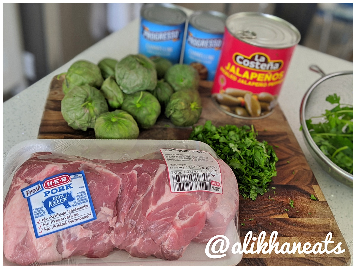 braised pork chile verde ingredients