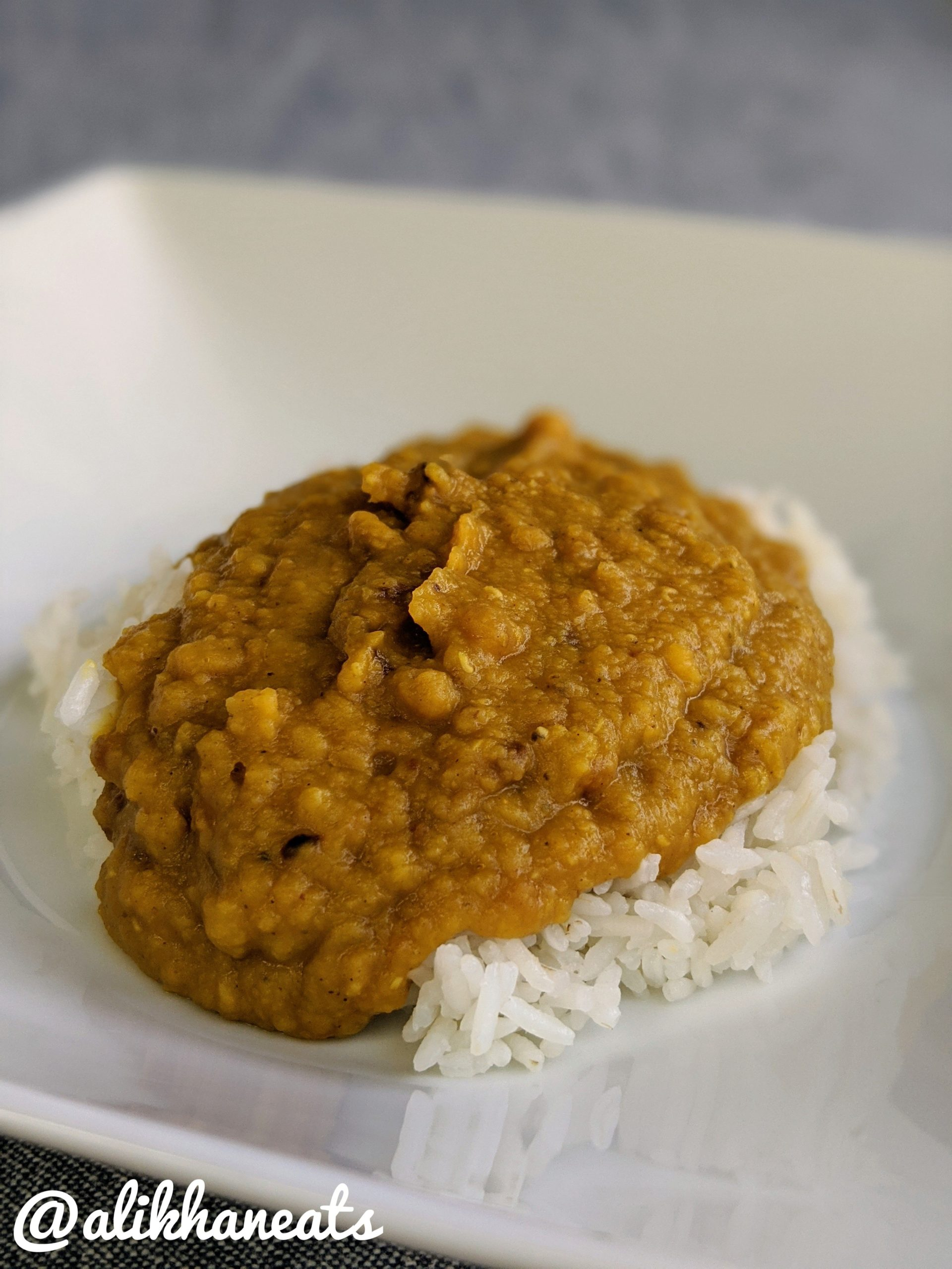 easy dal recipe plated