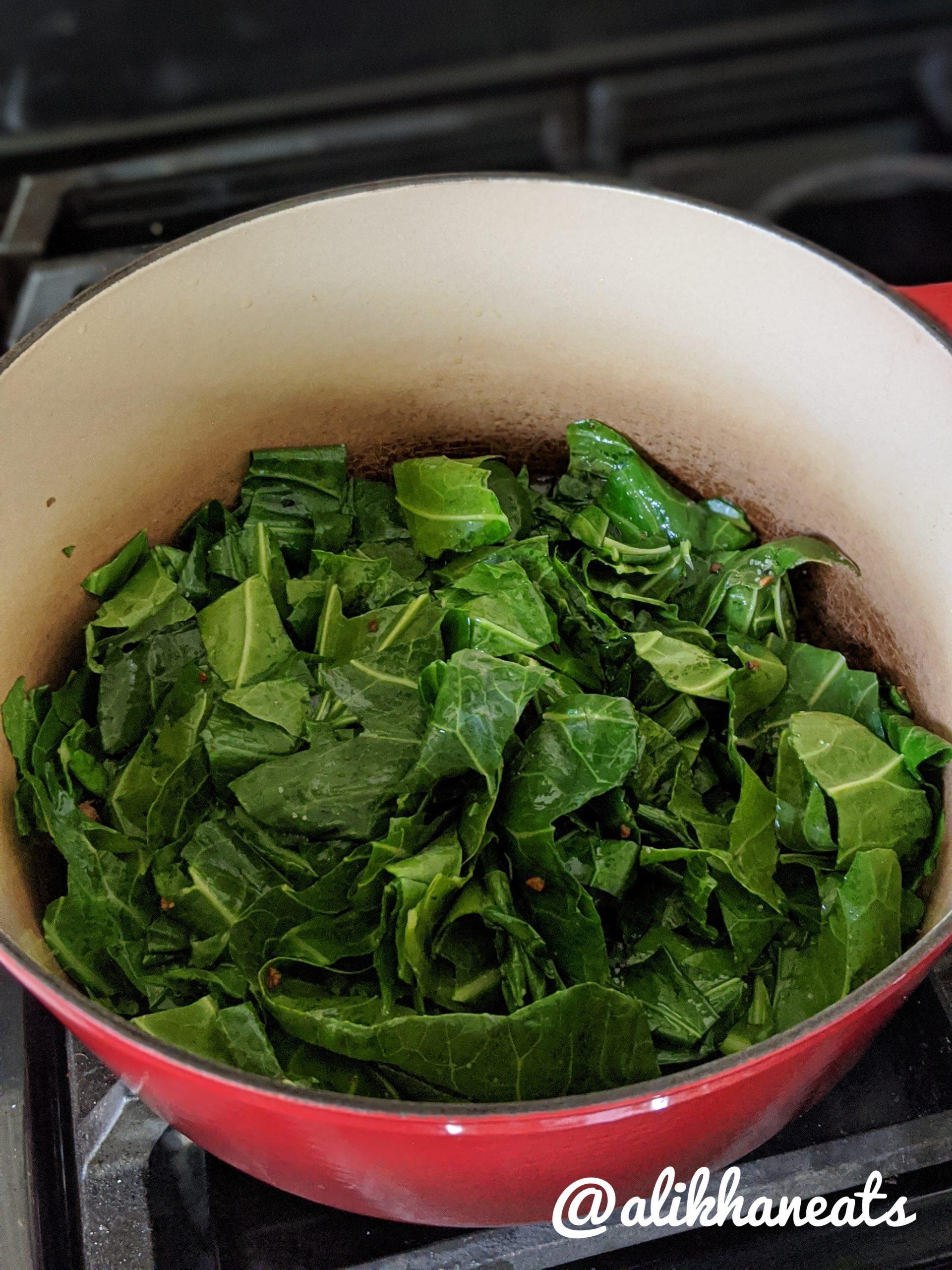 leftover roast chicken soup cooking collard greens