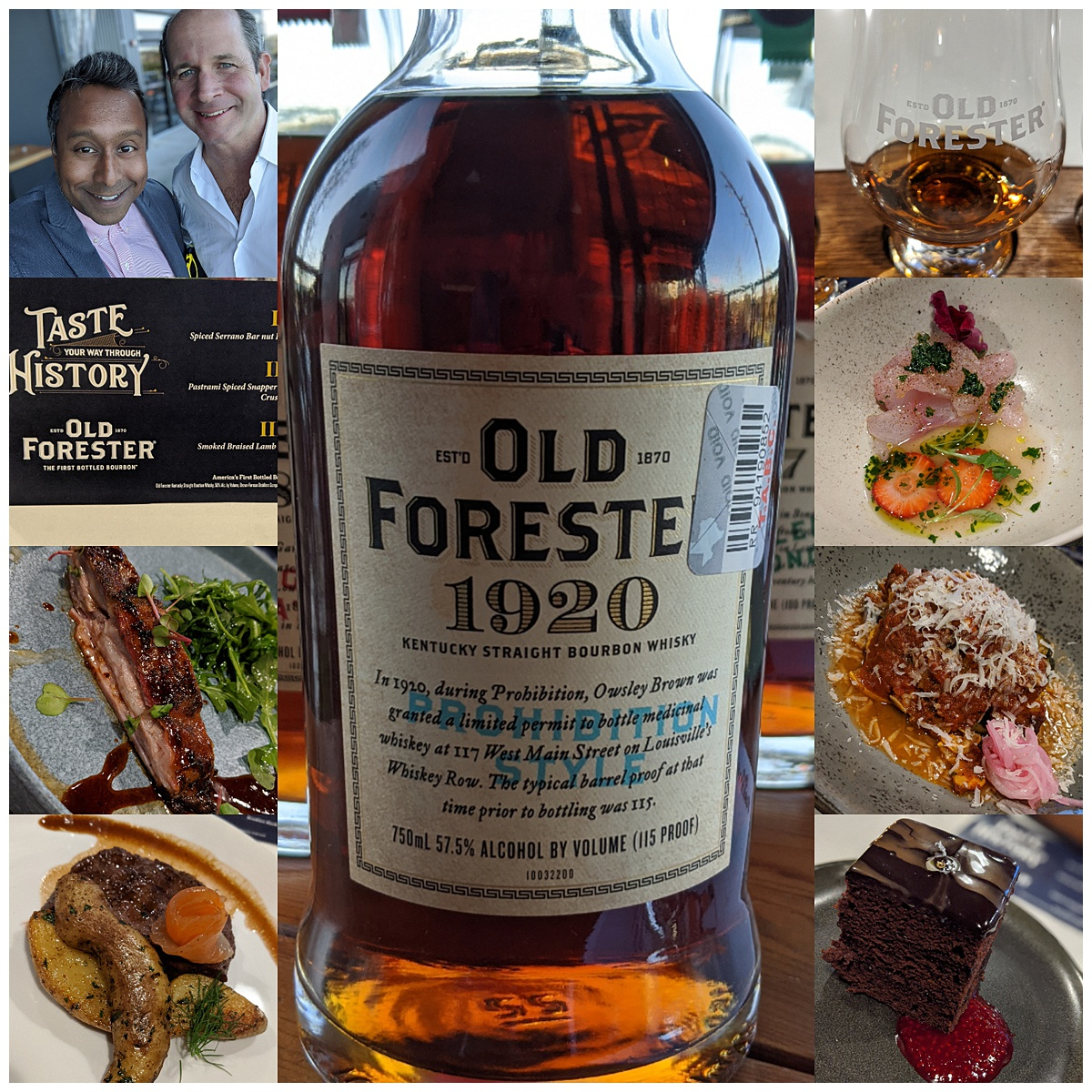 Old Forester tasting menu event at Provision montage
