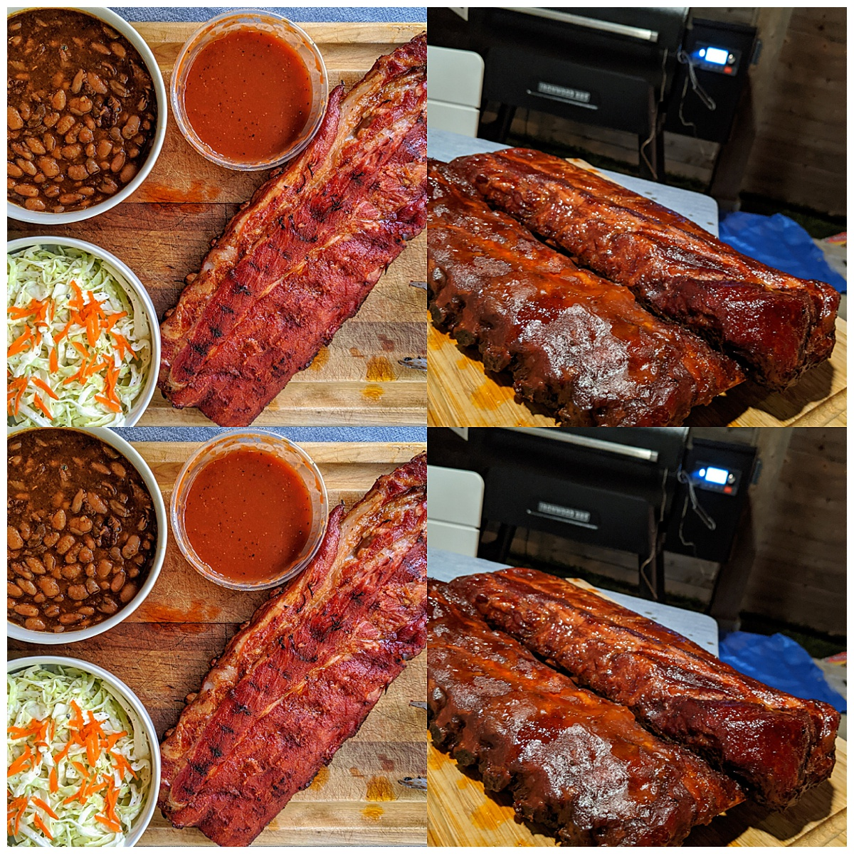 Trager Baby Back Ribs Montage