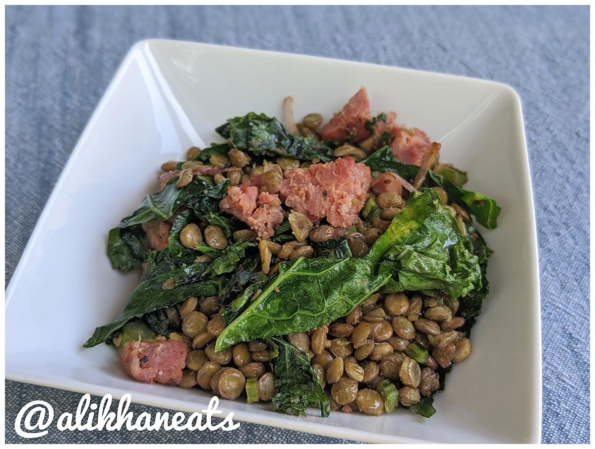 warm lentil salad 2
