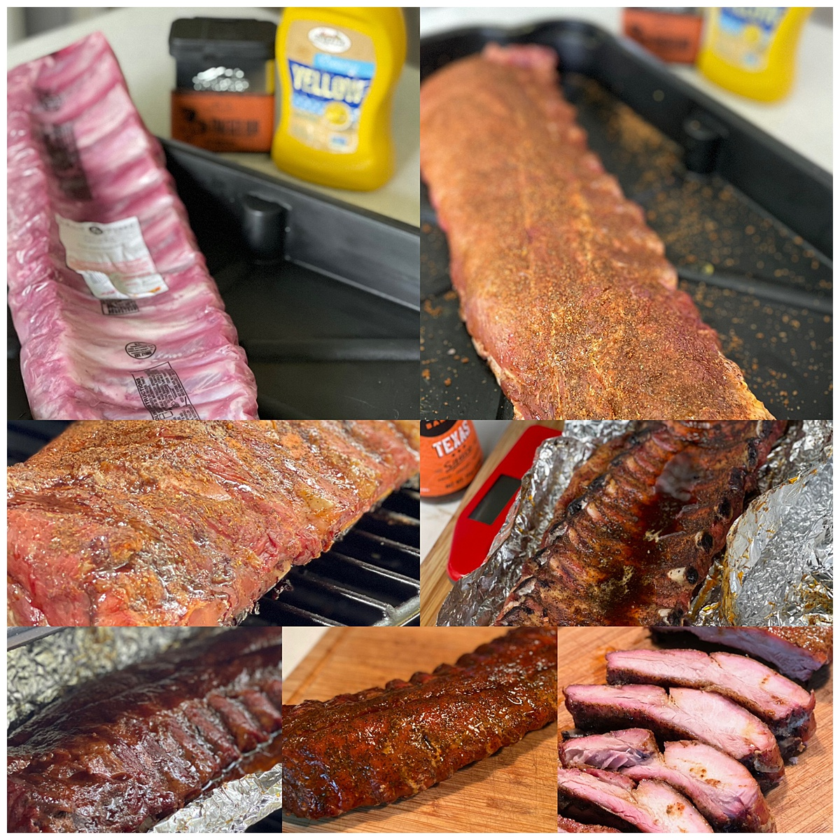 Traeger Baby Back ribs montage