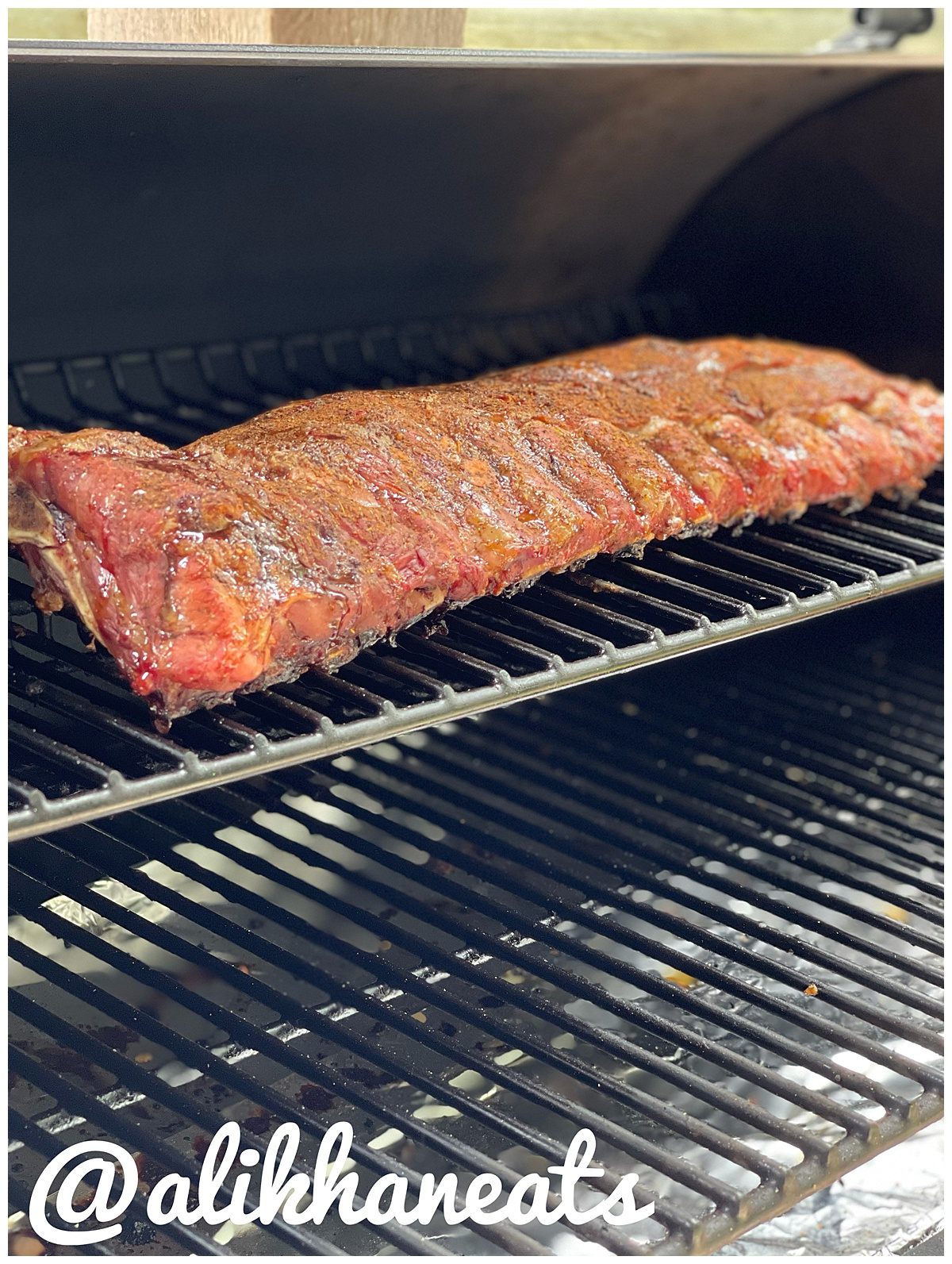 Traeger Baby Back ribs on the grill 1