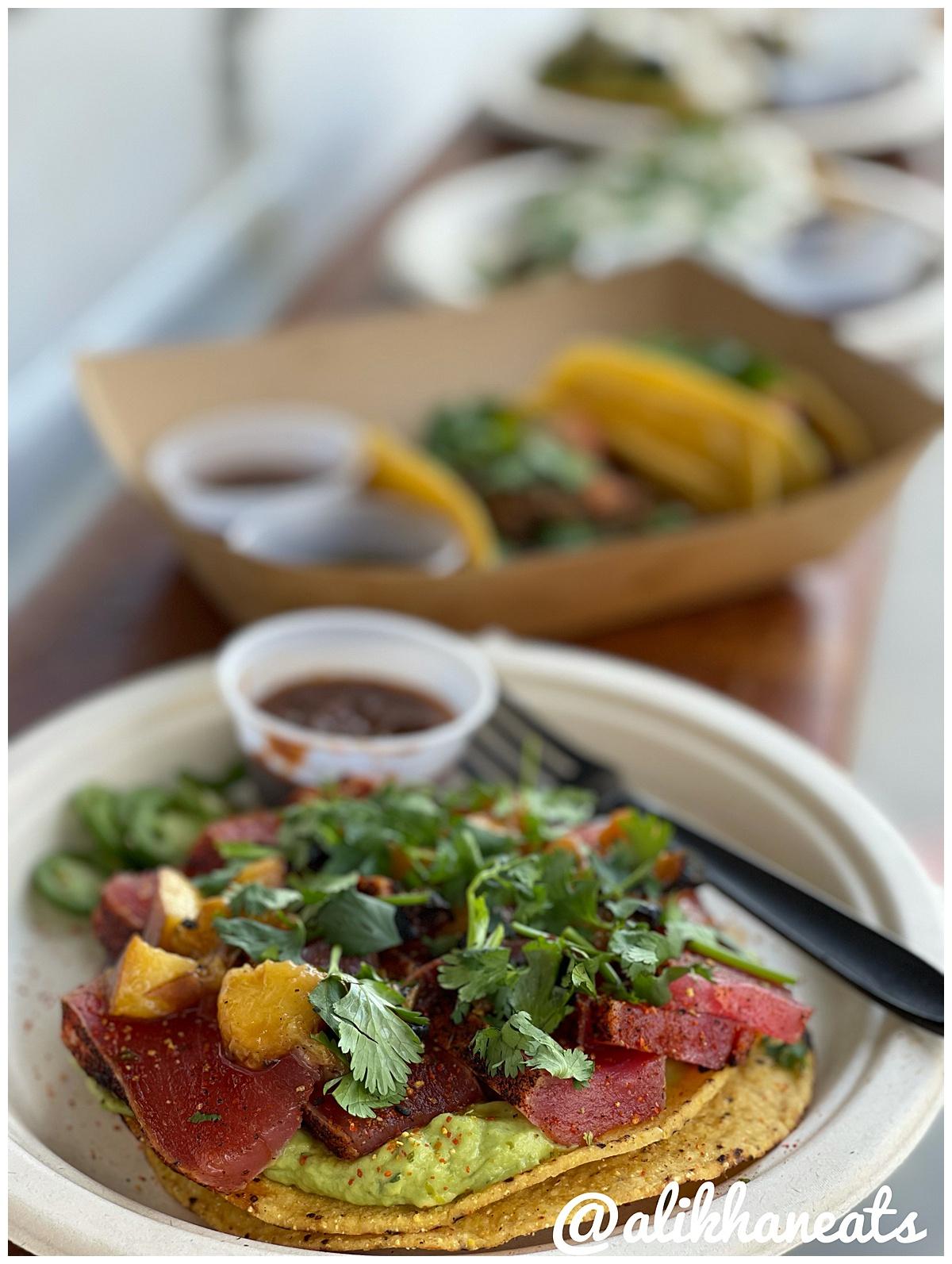 Trill Foods tuna tostada portrait