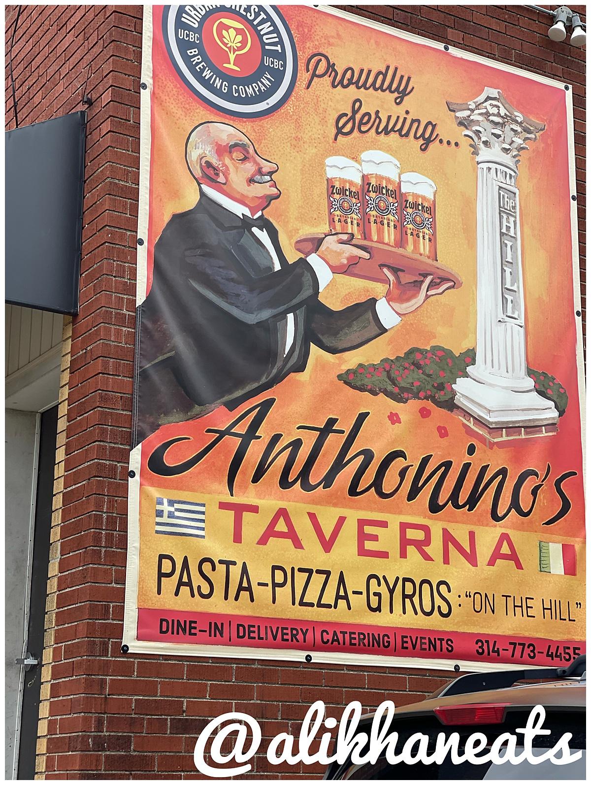 Anthonino's Taverna sign