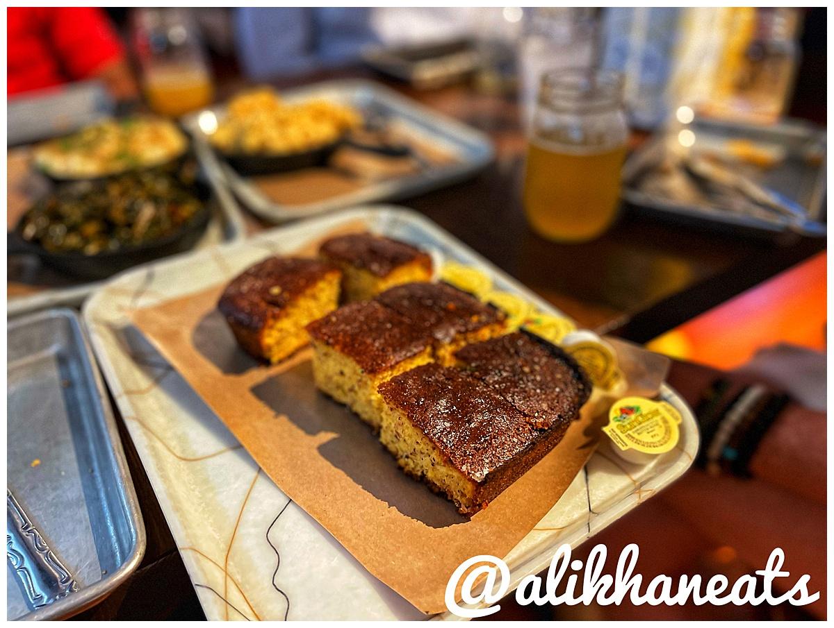 Grace Meat and Three cornbread