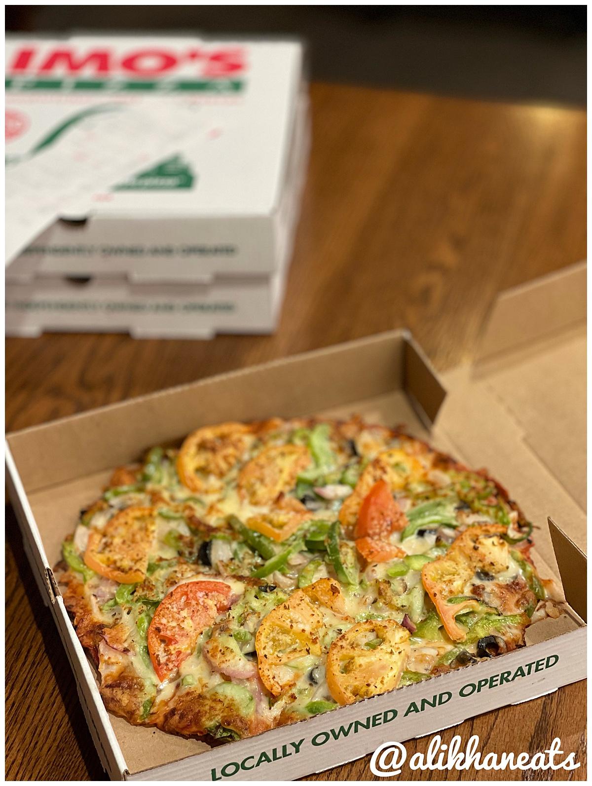 Imo's veggie pizza