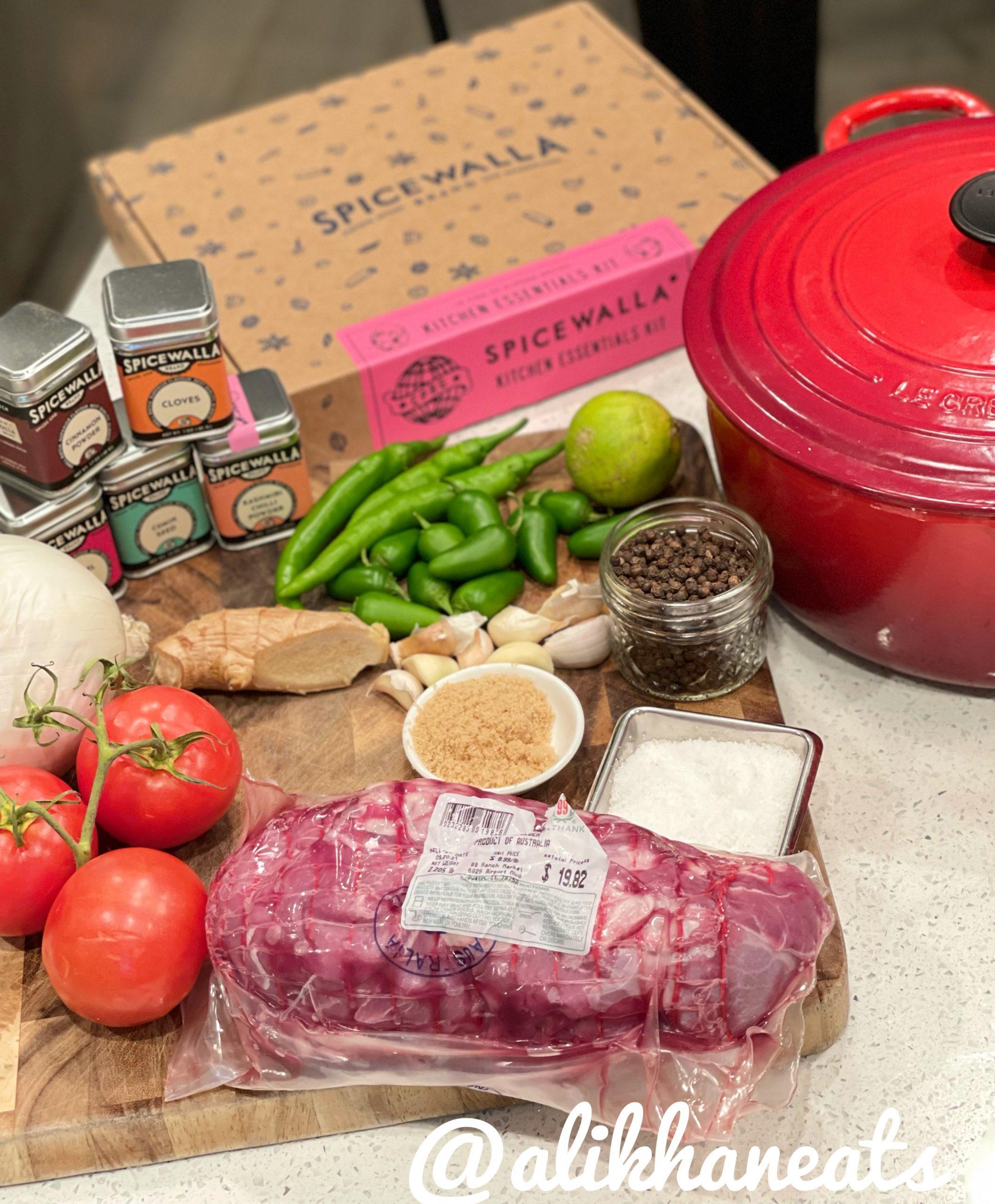 Lamb Vindaloo ingredients
