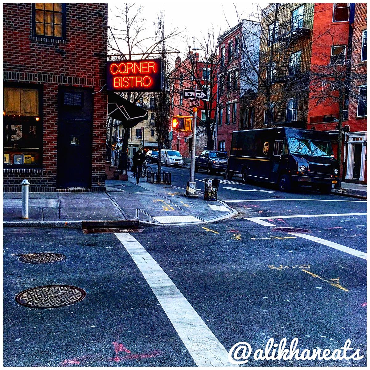 Corner Bistro street sign