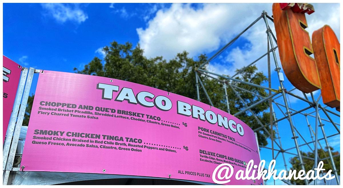 ALC Eats Taco Bronco sign