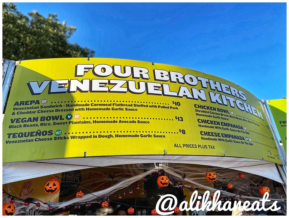 Four Brothers Venezuelan kitchen sign